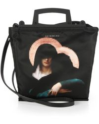 Givenchy Rave Madonna Nylon Shopper black - Lyst