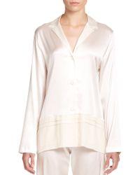 La Perla Silk Essence Pajama Top - Lyst