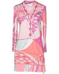 Emilio Pucci Pink Short Dress - Lyst