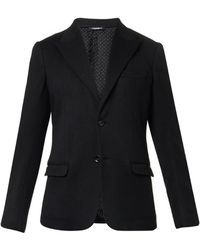 Dolce & Gabbana Peak-Lapel Knitted Blazer - Lyst