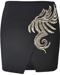 Roberto Cavalli Embellished Mini Skirt - Lyst