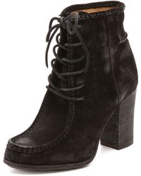 Frye Parker Moc Short Booties - Brown - Lyst