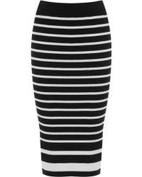 Oasis Stripe Tube Skirt - Lyst