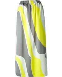 Issey Miyake Graphic Print Skirt - Lyst