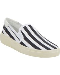 Saint Laurent Stripeprint Skate Slipon Sneakers - Lyst