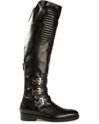 Gianmarco Lorenzi Buckled High Boots - Lyst