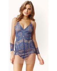 For Love And Lemons Antigua Lace Mini Dress - Lyst