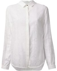 Richard Nicoll Sheer Python Print Shirt - Lyst