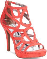 Report Rocko Caged Platform Dress Sandals - Lyst