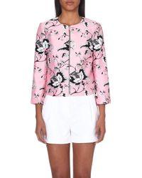 Diane von Furstenberg Gabrielle Floral-Print Jacket - For Women - Lyst