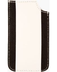 Burberry Prorsum Beige Leather and Linen Iphone Case - Lyst