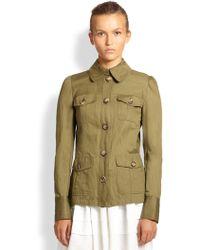 Michael Kors Cotton Cargo Jacket - Lyst