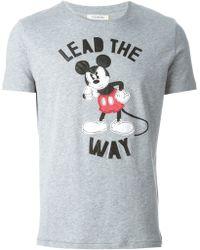 Iceberg Mickey Mouse Appliqué T-Shirt - Lyst