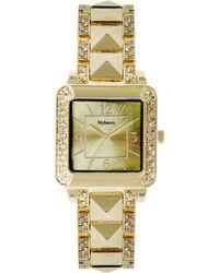 Style & Co. - Style&co. Women's Pavé Studded Gold-tone Bracelet Watch 30mm 10026911 - Lyst