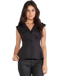 Rebecca Taylor Modern Stretch V-Neck Top - Lyst