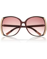 River Island Red Oversized Square Sunglasses - Lyst