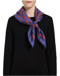 Mulberry Blue Silk Square - Lyst