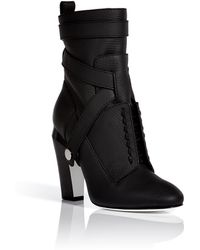 Fendi Leather Ankle Boots - Lyst