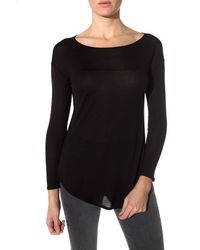 Bella Luxx Long Sleeve Yoke Tee - Lyst
