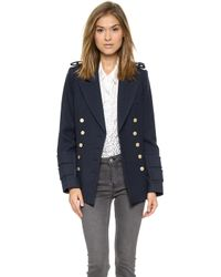 Smythe Military Pea Coat  Dark Navy - Lyst