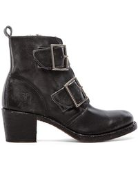 Frye Sabrina Double Buckle Boot - Lyst