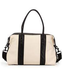 L.A.M.B. Colorblock Leather Satchel Bag white - Lyst
