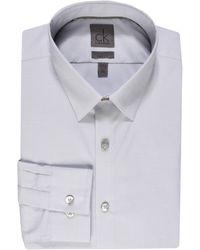 Calvin Klein Slim Fit Ls Dress Shirt - Lyst