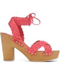 L'Autre Chose | Braided Leather Sandals | Lyst