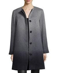 Sofia Cashmere | Wool-cashmere Ombre Coat | Lyst