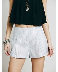 Free People Austin Pleated Short gray - Lyst