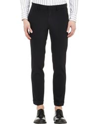 Barneys New York Stretch Trousers - Lyst