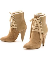 Iro Kimei Shearling Boots - Black - Lyst