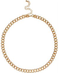 River Island Gold Tone Short Box Chain Necklace gold - Lyst