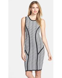 Marc New York By Andrew Marc Jacquard Sheath Dress - Lyst