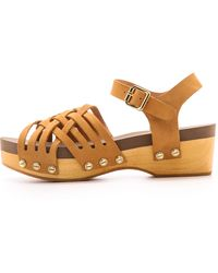 Flogg | Milli Woven Sandals Luggage | Lyst