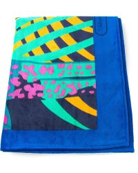 Ferragamo - Tropical-Print Towel - Lyst