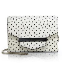 Kate Spade Kennedy Street Tizzie Spotted Snake-Embossed Crossbody Bag white - Lyst