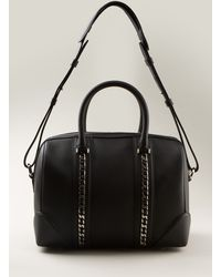 Givenchy Black Grained Leather Bag - Lyst