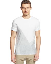 Calvin Klein Heather Printed Graphic T-Shirt white - Lyst