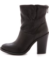Steven By Steve Madden Earla Booties  Black - Lyst