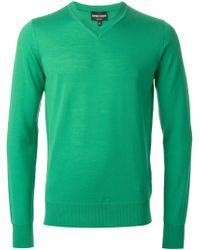Emporio Armani V-Neck Sweater - Lyst