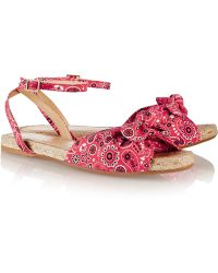 Charlotte Olympia Marina Printed Canvas Sandals - Lyst