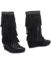 Ash Black Ankle Boots - Lyst