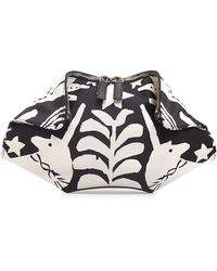 Alexander McQueen Small De-manta Printed Leather Clutch Bag - Lyst