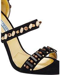 Prada Embellished Ankle-Strap Sandals - Lyst