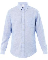 Brooks Brothers Linen Shirt - Lyst