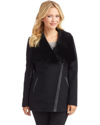 7 For All Mankind Drape Front Cocoon Coat - Lyst