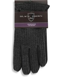 Black Brown 1826 - Leather Palm Gloves With Adjustable Strap And Custom Snap - Lyst