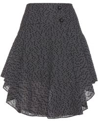 Chloé Ruffled Wool Skirt - Lyst