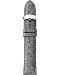 Michele Urban Saffiano Leather Watch Strap/18Mm - Lyst